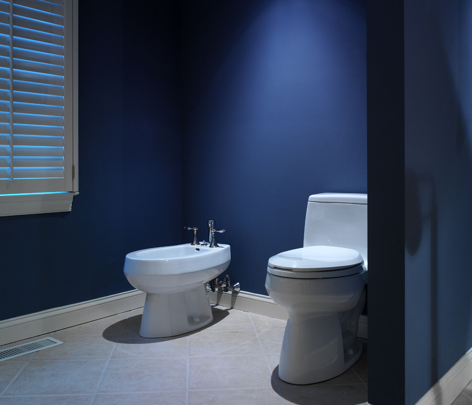 Recessed lights in water closet