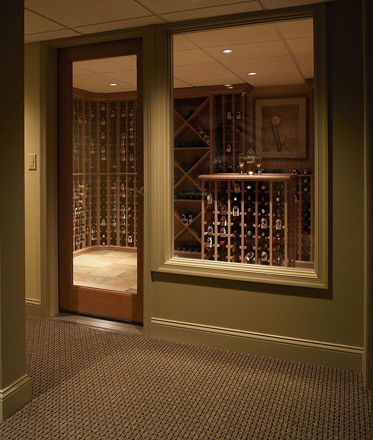 Creative Contracting designed Wine Cellar